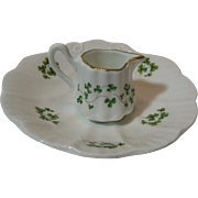 Irish Shamrock Bone China Mini Creamer, 1950's Ireland