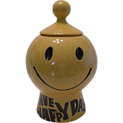 McCoy Happy Face Cookie Jar ~ Have A Happy Day!