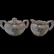1940's Germany Porcelain Creamer and Sugar Set