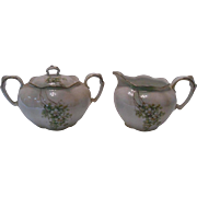 1940's Germany Porcelain Creamer and Sugar Set