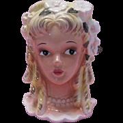 Enesco Pretty Head Vase with Blond Ringlets