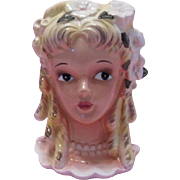 Enesco Pretty Head Vase with Blond Ringlets