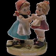 Erich Stauffer Two Girls Dancing Figurine, Japan