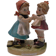 Erich Stauffer Two Girls Dancing Figurine, Japan