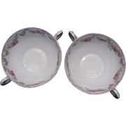 GDA Limoges France Soup Cups, Set of 2 ~ REDUCED!