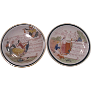 Vernon Kilns Musical Story Plates, Set of 2