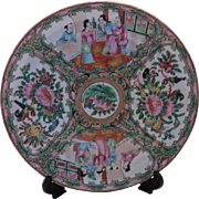 19th Century Beautiful Chinese Rose Medallion Plate
