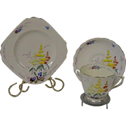 Tuscan China 3 Piece Luncheon Trio of Plate, Cup and Saucer