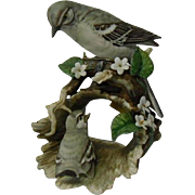 Vintage Home Interiors Porcelain Figurine of Mama Bird and Chick