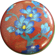 Small Vintage Cloisonne Bowl with Lid