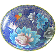 Vintage Cloisonne Enamel Bowl in Cobalt Blue ~ REDUCED!