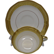 Aynsley of England Elegant White and Gold Cup and Saucer
