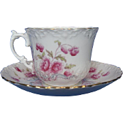 Vintage Aynsley Cup and Saucer Set, Pink Flowers
