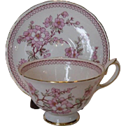 Royal Chelsea Cherry Blossom Cup and Saucer, England