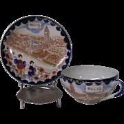 Vintage Japanese Porcelain Cup and Saucer