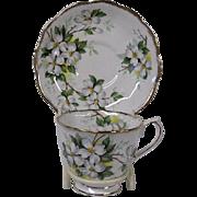 Royal Albert Dogwood Blossoms Cup and Saucer Set