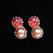 1/2 OFF!! ~ Vintage Marvella Faux Pearl Earrings ~ REDUCED!!
