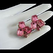 Glittering Weiss Fuchsia Rhinestone Earrings ~ REDUCED!