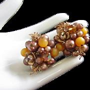 Vintage Elaborate Beaded, Crystal and Rhinestone Earrings