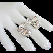 Sparkly Clear Vintage Rhinestone Earrings