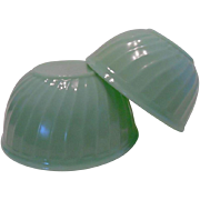 Fire King Jadeite Set of 2 Mixing Bowls ~ REDUCED!