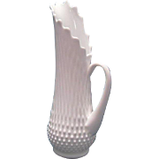 "Pristine White Fenton Hobnail Milk Glass 14"" Vase Pitcher ~ REDUCED!"