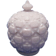 Westmoreland Milk Glass Candy Dish, Old Quilt Pattern