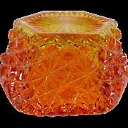 Vintage Amberina Hexagon Shaped Dish