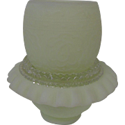 Sweet Fenton Fairy Lamp in Custard Yellow Satin
