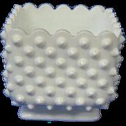 Vintage Fenton Milk Glass Hobnail Planter