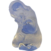 Adorable Viking Clear Crystal and Frosted Glass Baby Elephant