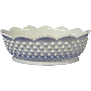 Fenton Hobnail Milk Glass Oval Shaped Bowl
