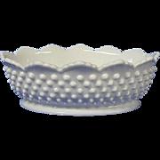 Fenton Hobnail Milk Glass Oval Shaped Bowl