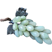 Vintage Heavy Solid Jade Cluster of Grapes