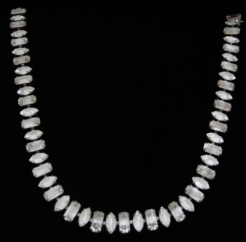 Vintage Fenichel Art Glass Rhinestone Choker Necklace ~ 50% OFF!