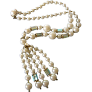 Vintage Japan Faux Pearls, Glass Beads & Tassels Necklace ~ REDUCED!!!