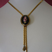 Vintage Goldette Romantic Floral Slide Necklace ~ REDUCED!
