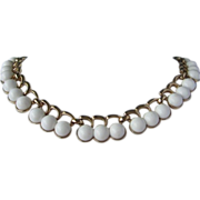 Vintage MONET White Thermoset Necklace ~ REDUCED!!