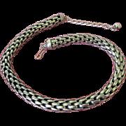 Vintage Napier Snakey Silver Tone Choker Necklace