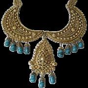 Vintage Egyptian Revival Bib Necklace ~ REDUCED!