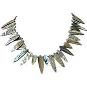 Vintage Abalone Shell Teardrop Necklace ~ REDUCED!
