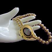 Vintage Elizabeth Taylor Gold Tone Necklace, Unique Design ~ REDUCED!