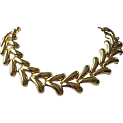 Vintage Chunky Bright Gold Tone Necklace ~ REDUCED!