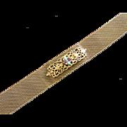 Romantic Gold Tone Mesh Choker Necklace