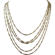 Vintage Gold Tone 5 Strand Necklace, Signed