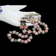 Vintage Genuine Polished Stones, Semi Precious Stone Necklace