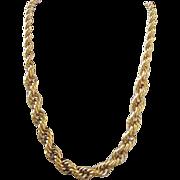 Vintage Vendome Gold Tone Necklace