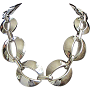 Fabulous Chunky Vintage Silver Tone Necklace ~ REDUCED!