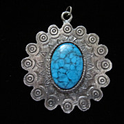 Vintage Southwestern Style Faux Turquoise Pendant ~ 50% OFF!