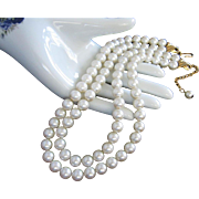 Napier Double Strand Faux Pearl Necklace